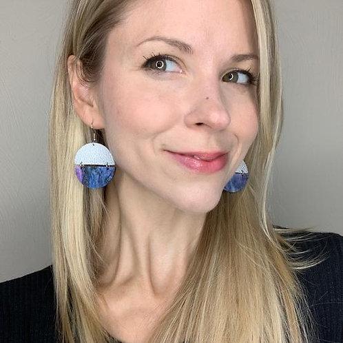 Silver Shimmer & Galaxy Split Earrings