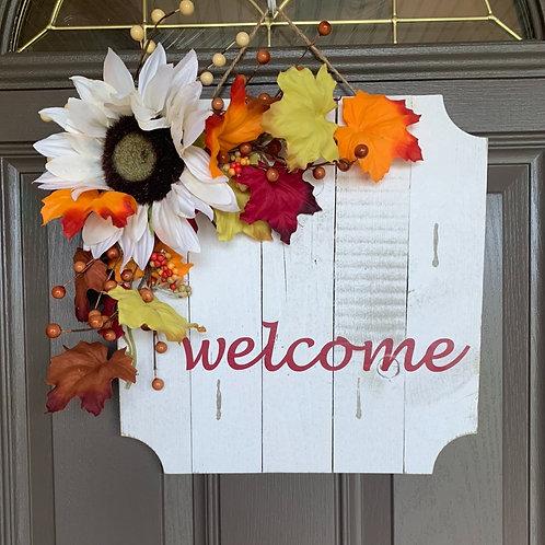 Welcome Sunflower Wall/Door Accent