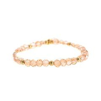 Refined Beaded Bracelet Light Pink