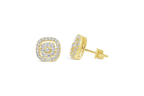 Dress Up Gold Pave Earrings