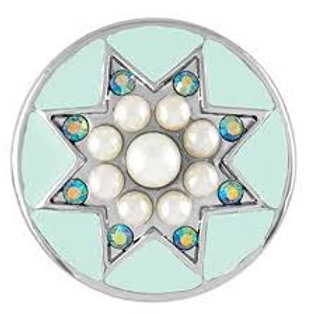 Light Blue Pearl Star Snap