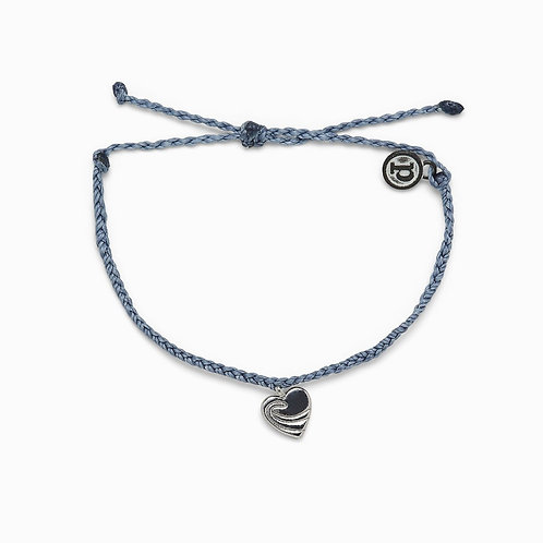 Surf Love Silver & Blue Bracelet