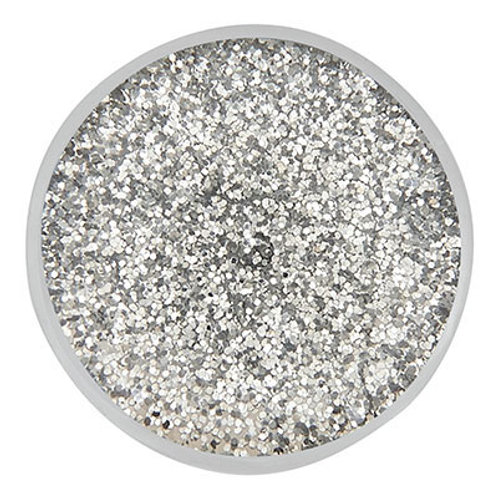 Silver Glitter Resin Snap