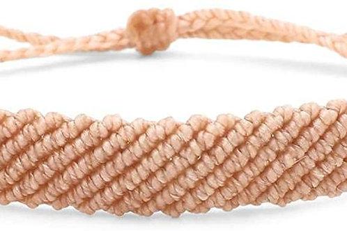 Pura Vida Flat Braided Bracelet Blush