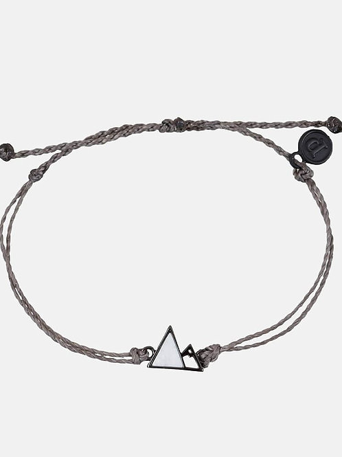 Pura Vida Gem Mountain Bracelet Black & Dark Grey