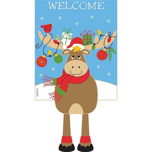 Reindeer Welcomes Garden Flag