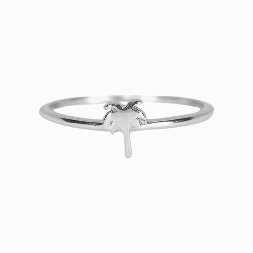 Pura Vida Palm Tree Ring Silver