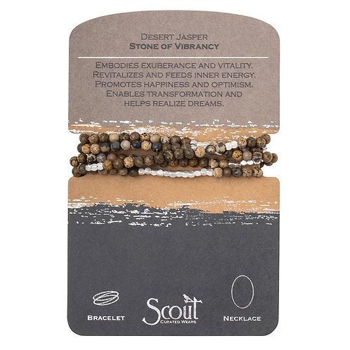 Scout Wrap Bracelet/Necklace Desert Jasper Stone of Vibrancy