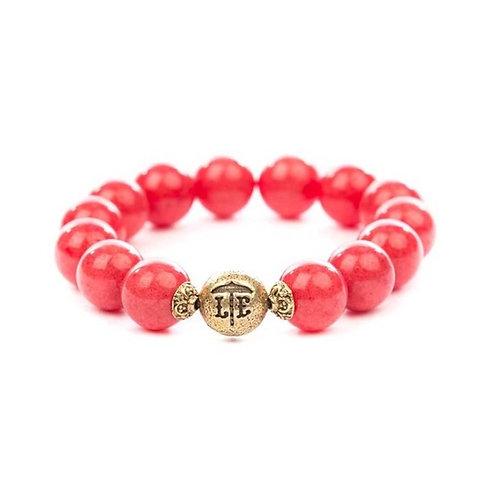 Beaded Bracelet Coral