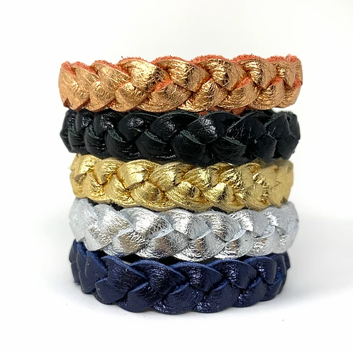 Skinny Metallic Braided Bracelets
