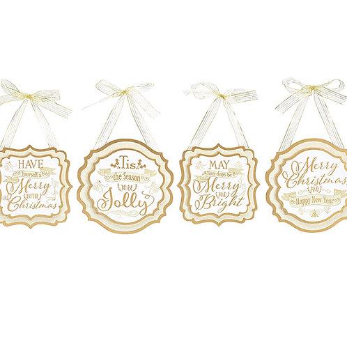 Wood Plaque Ornaments