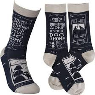 You're Not Drinking Alone...Dog Socks