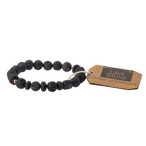 Stone Stacking Bracelet Lava Stone Stone of Strength