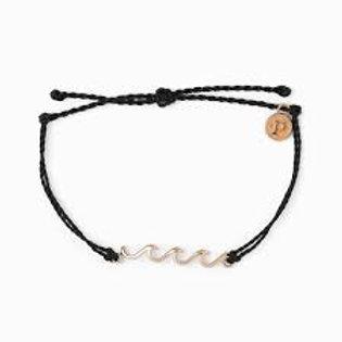 Pura Vida Rose Gold Delicate Bracelet Black