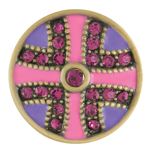 GINGER SNAPS PINK AND PURPLE BRASS FLUTTER