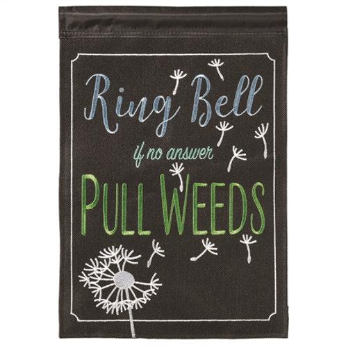 Pull Weeds Garden Flag