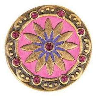 GINGER SNAPS PINK AND PURPLE BRASS BOHO