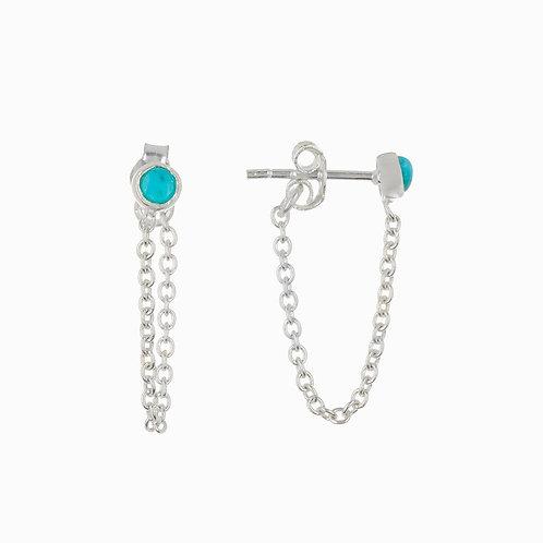 Pura Vida Chain Ear Wrap Earrings Silver