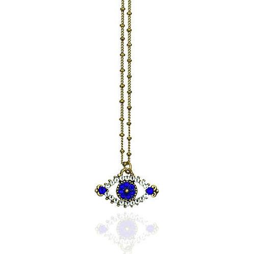 Blue Evil Eye Swarovski Necklace