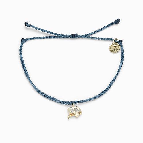 On the Road Charm Dusty Blue Bracelet