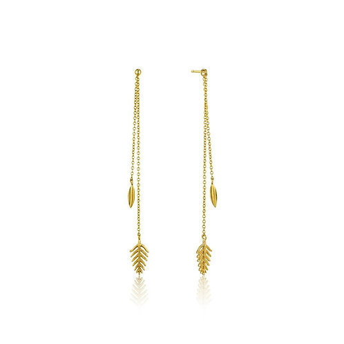Gold Tropic Drop Earrings