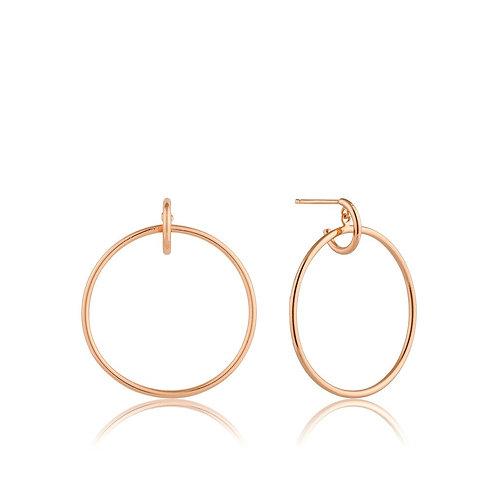 Rose Gold Front Hoop Earrings