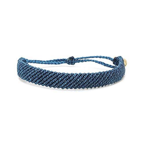 Pura Vida Flat Braided Bracelet Blue