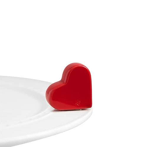 Nora Fleming Mini - Be Mine Red Heart
