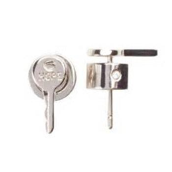 Mini Key Post Earrings - Hope