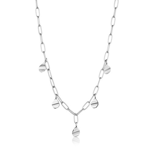 Ania Haie Silver Crush Drop Discs Necklace