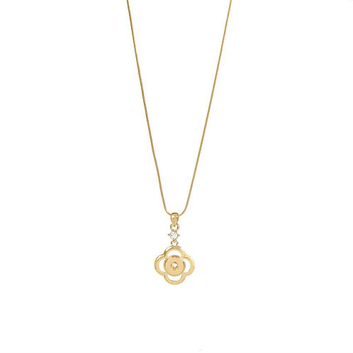 Gold Whirlwind Petite GingerSnap Necklace