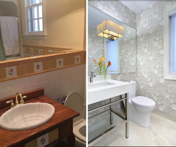 Before & After Powder Room