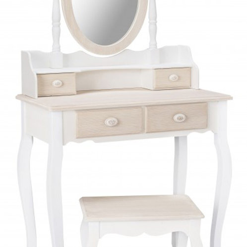Grenada Dressing Table, Mirror & Stool