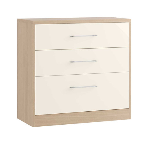 MONTREAL 3 Drawer Chest (1 Deep Drawer)