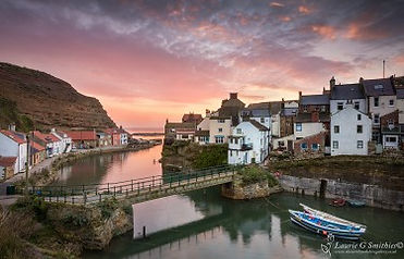 View of Staithes from Beckside