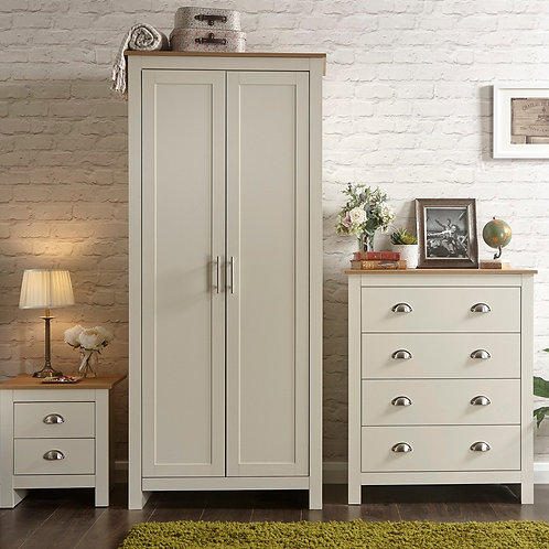 BENISSA Bedroom Trio - Bedside, Chest & Robe