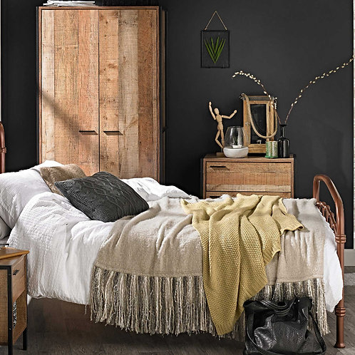 BARCELONA Bedroom Trio - Bedside, Chest & Robe