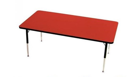 24x48 Table with Metal  adjustable legs Legs