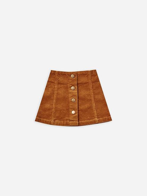 Corduroy Mini Skirt in Cinnamon