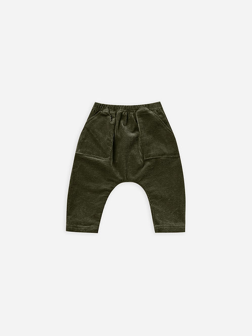 Corduroy Utility Pant in Forest