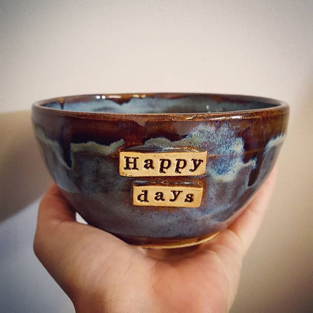 😃simple little happy days bowl ♥️ love and always want to keep them!!