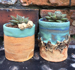 Seaside and birdy planter