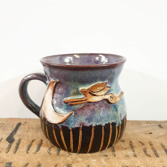 The new little hare & moon mug with be w
