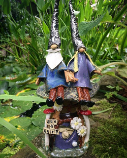 Love these new Mugloos with Mr & Mrs gnome on top 💜🌿👫
