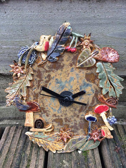 Woodland clock
