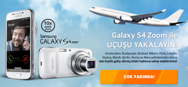 Galaxy S4 Zoom ile Avrupaya Bilet