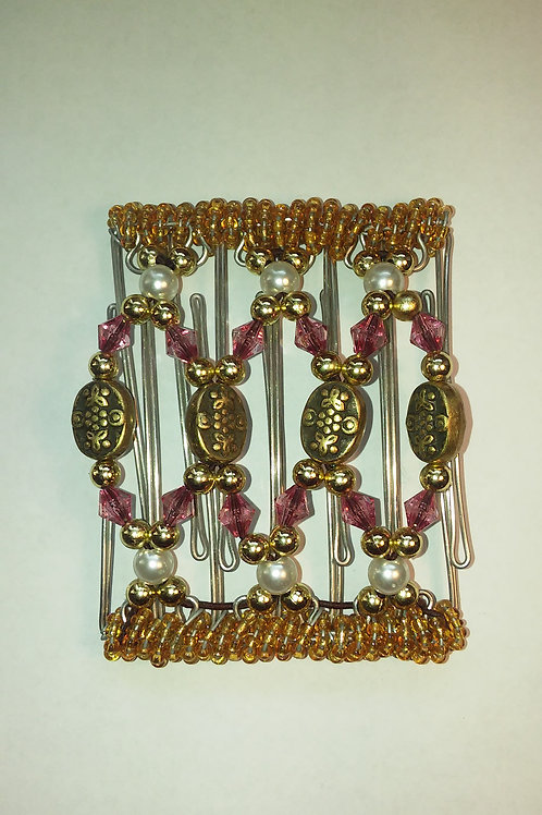 Gold medalions & Bead - 7 prongs