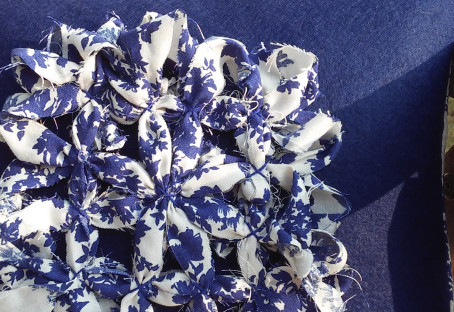 Fabric Daisy cushion cover