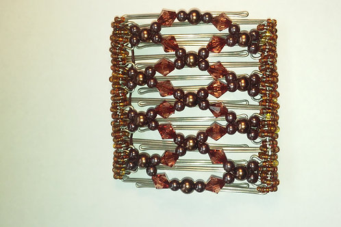 Brown bead - 9 prongs