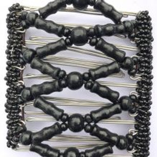 Black bead - 9 prongs